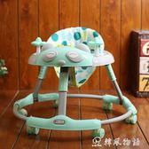 嬰幼兒學步車6/7-18個月寶寶男女孩兒童手推可坐折疊防側翻多功能igo 韓風物語