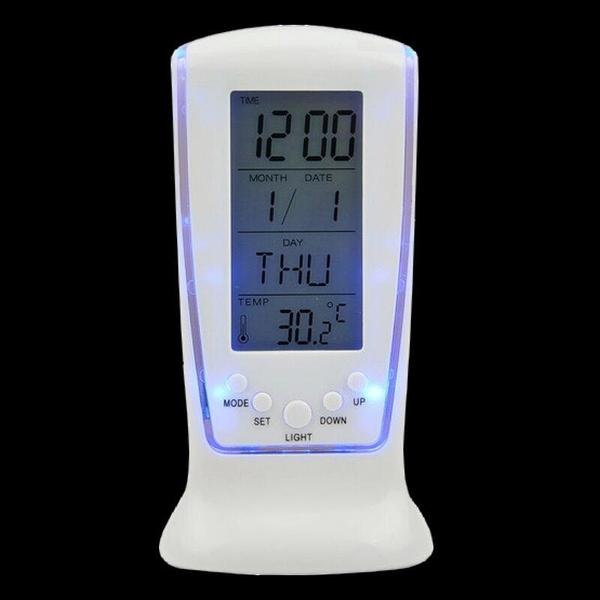 【DB429】LED鬧鐘510 藍光萬年曆電子鐘 大數字時鐘 倒數計時器 溫度計 EZGO商城