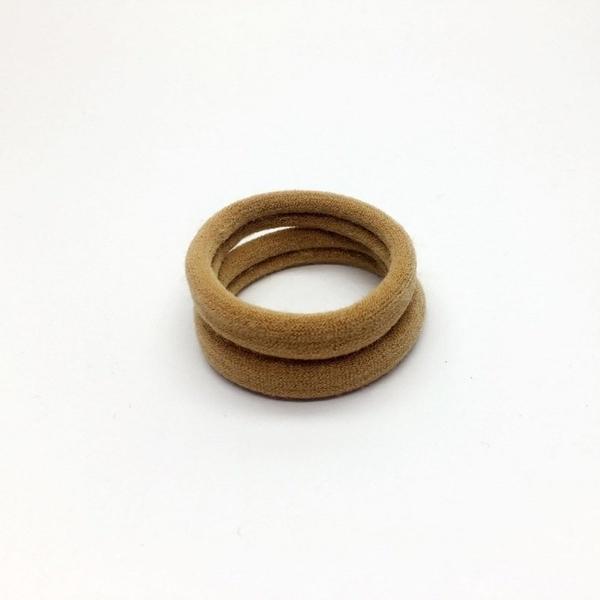 無接縫 高彈力毛巾髮圈 (咖啡色系)