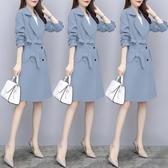 風衣 2020新款春秋季中長款韓版時尚女裝大衣小個子外套