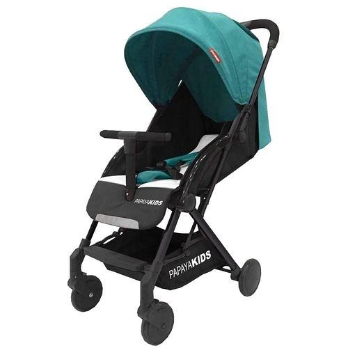 馬克文生 PAPAYA KIDS 一鍵秒收口袋車/嬰幼兒手推車-藍綠色(P20T)座布可拆[衛立兒生活館]