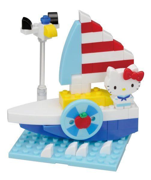 【日本KAWADA河田】Nanoblock迷你積木-Hello Kitty凱蒂貓 遊艇 PK-002