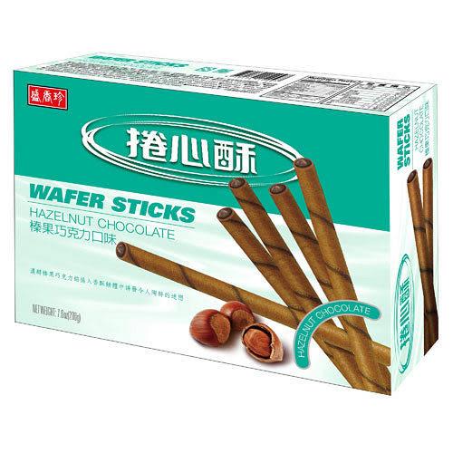 盛香珍捲心酥-巧克力口味200g【愛買】
