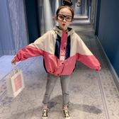 女童外套 女童網紅春秋外套秋裝2020新款韓版洋氣兒童秋季中大童時髦風衣潮-米蘭街頭