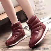 冬季媽媽鞋中老年雪地靴女棉鞋老人靴