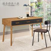 【德泰傢俱工廠】JOJO原切木4尺書桌 A002-864-2