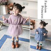 秋冬季新款女童抓絨紗裙1-3-4歲5女寶寶連衣裙泡泡袖公主裙子 歡樂聖誕節