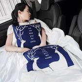 汽車用抱枕被子兩用卡通靠墊車載冬季車內午睡保暖用品折疊空調被igo『韓女王』