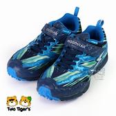 日本月星 MoonStar SS競速運動鞋 藍色 魔鬼氈 機能童鞋 中大童 NO.R4388