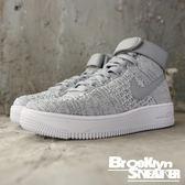 Nike AF1 FORCE ULTRA FLYKNIT MID (GS) 灰白編織 高筒 女生  (布魯克林) 862824-002