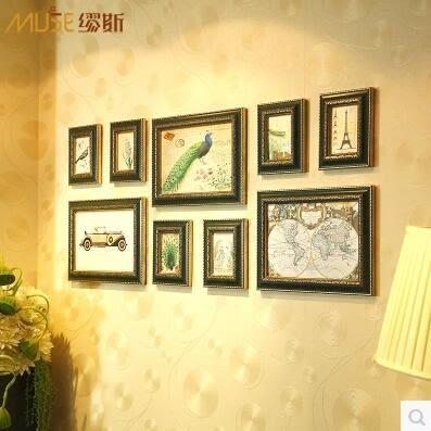 繆斯 歐式相框組合 長方形規則掛牆組合 照片牆 婚紗相片牆