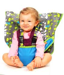里和Riho 美國My Little Seat可攜式嬰兒安全座椅套 藍色小魚 安全椅墊 彌月禮 免運