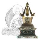 28.5公分 純銅菩提塔 釋迦牟尼佛 塔底可裝藏 銅色