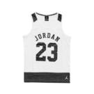 Nike 背心 Jordan Tank 白 黑 女款 童裝 大童 爆裂紋 【PUMP306】 53311ST513001