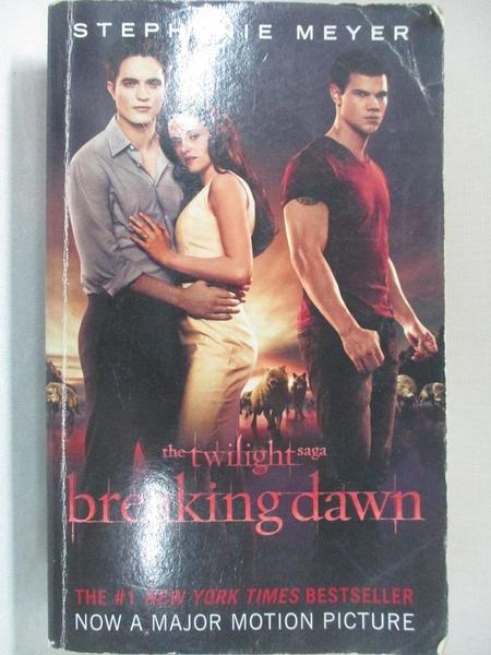 【書寶二手書T1/原文小說_BGJ】Breaking Dawn_Meyer, Stephenie