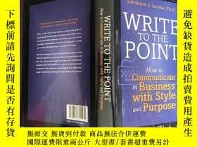 二手書博民逛書店Write罕見to the point: how to comm