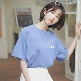 韓版學生純棉印花白色短袖t恤女寬鬆半袖體恤潮 多色小屋