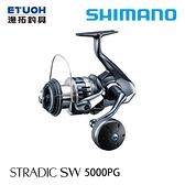 漁拓釣具 SHIMANO 20 STRADIC SW 5000PG [紡車捲線器]