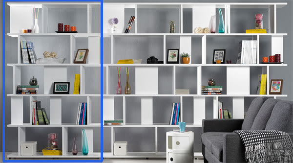 海爾斯3.3X7尺白色造型書櫃