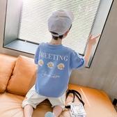 男童短袖T恤小雛菊印花夏裝新款 兒童中大童上衣半袖體恤夏季 快速出貨