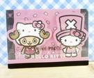 【震撼精品百貨】ONE PIECE&HELLO KITTY_聯名海賊王喬巴&凱蒂貓系列~便條本-粉櫻花
