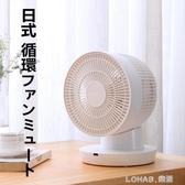 電風扇空氣循環扇台式家用臥室靜音日本小型桌面搖控電扇 樂活生活館