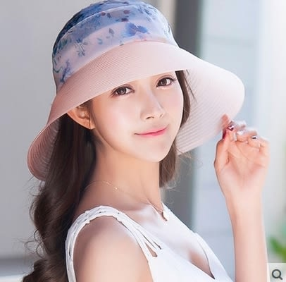 韓版潮大沿防曬遮陽帽防紫外線太陽帽戶外沙灘帽  -com0029