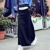 7款韓版魚余半身裙女加絨A字長裙包臀擺裙黑色顯高瘦【PinkQ】