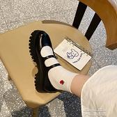 娃娃鞋新款復古厚底黑色日繫圓頭瑪麗珍小皮鞋女學院風鬆糕底娃娃鞋 麥琪精品屋