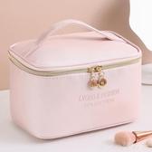 網紅化妝包便攜防水大容量收納包簡約日系少女化妝品手提袋洗漱包 LannaS