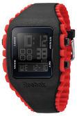 Reebok Z1G系列光速飛躍電子腕錶-黑x紅