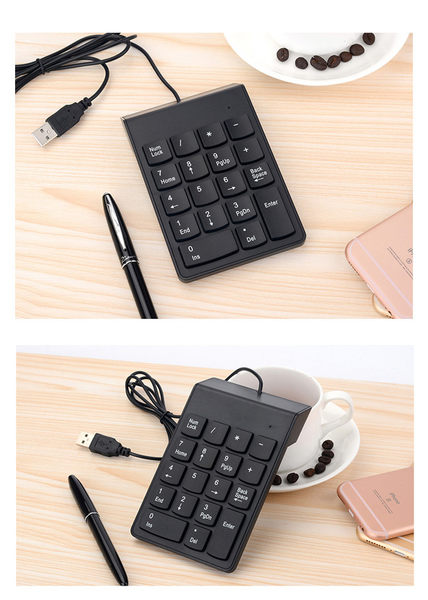 Mini 有線USB數字鍵盤小鍵盤