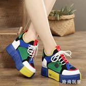 中大尺碼 內增高鞋女韓版ulzzang小白鞋夏季百搭 ZB1300『時尚玩家』