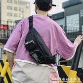 ins潮流胸包男士機能工裝風斜挎後背包女休閒運動腰包嘻哈蹦迪包 中秋特惠