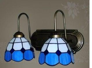 設計師美術精品館蒂凡尼玻璃歐式壁燈地中海田園中式現代客廳臥室床頭壁燈鏡前燈