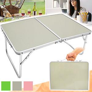 輕便鋁合金手提折疊桌.摺疊桌折合桌摺合桌.和室桌簡易床上桌.戶外桌野餐桌露營桌.休閒懶人桌