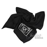 茱麗葉精品【全新現貨】 MOSCHINO 50134 M5344 電繡小熊LOGO莫代爾薄圍巾.黑