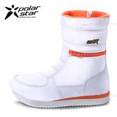 PolarStar 女 防潑水 保暖雪鞋│雪靴『煙雪白』 P16654 (內厚鋪毛/ 防滑鞋底) 雪地靴.非UGG靴.雪地必備