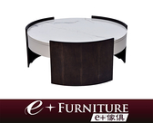 『 e+傢俱 』BT74 羅倫 Roland 陶瓷板桌面 三抽屜收納 大茶几 | 抽屜茶几 | 造型茶几 | 圓形茶几