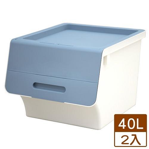 【2件超值組】KEYWAY 鄉村直取式整理箱HB-41-藍(40L)【愛買】