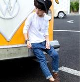 買一送一男童衣服2件兒童長袖t恤純棉純色秋裝男童打底衫白色衣服小男孩-『美人季』