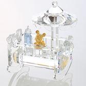 迪士尼系列金飾-黃金藝術水晶-搖床米奇款