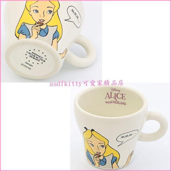 asdfkitty可愛家☆迪士尼愛麗絲 陶瓷馬克杯盤組/早餐組-橢圓長盤可放點心.下午茶點-日本製