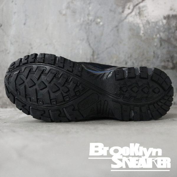 FILA 黑 藍螢光 網布 戶外 休閒 運動鞋 男 (布魯克林) 1X919Q306