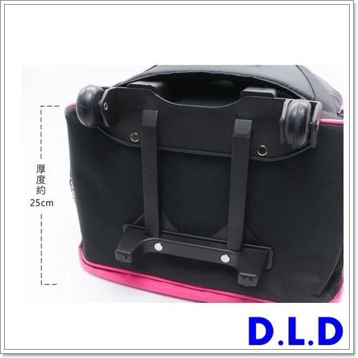 D.L.D  多輪多  專業直排輪  溜冰鞋 專用拉桿包  粉紅灰