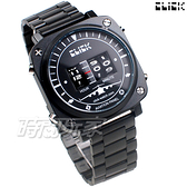 Click 飛機儀表板 創意 造型 腕錶 創新風格 趣味 不銹鋼 IP黑電鍍 男錶 CL-713B-BKBK-M