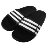 adidas 拖鞋 Duramo Slide 黑 白 運動拖 三條線 涼拖鞋 大童鞋 童鞋 女鞋【PUMP306】 G06799
