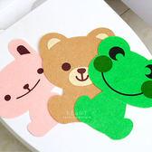 可愛動物不織布馬桶裝飾貼紙 壁貼 馬桶貼紙