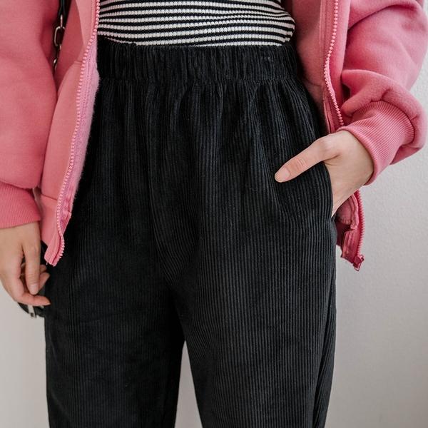現貨-MIUSTAR 側口袋鬆緊腰燈芯絨男友褲(共4色,M-L)【NH3163】