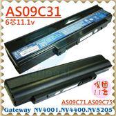 GATEWAY 電池-捷威 電池- AS09C31 NV4001C,NV4002C,NV4005C,NV4006C,NV4400 系列 ACER 宏碁 電池